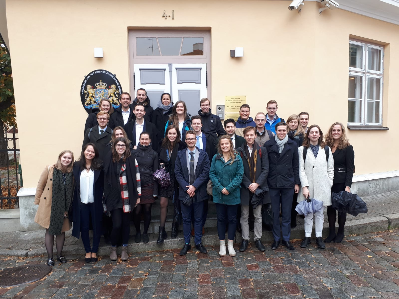 Trainees voor de ambassade in Estland