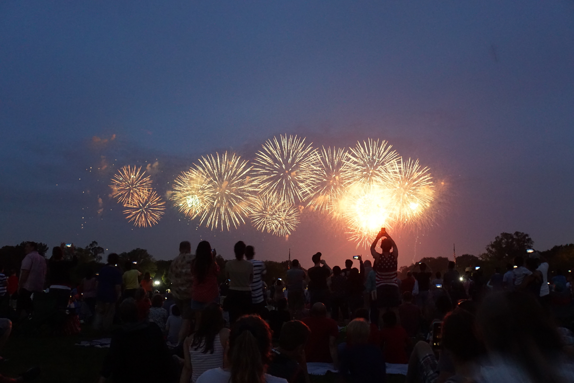 Viering van de 4th of July in Washington